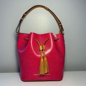 Dooney & Bourke Large Serena Fuchsia Bucket Bag
